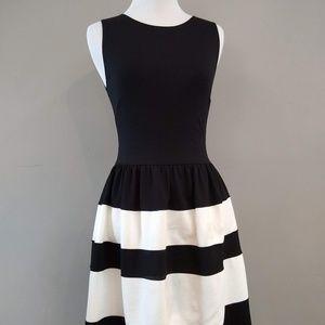 Love...ady Sleeveless Striped Black & White Dress